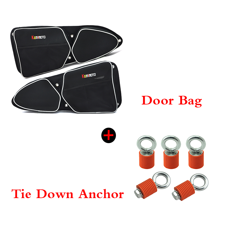Atv,rv,boat & Other Vehicle Kemimoto Utv For Polaris Xp 1000 Xp4 1000 900 Rzr Door Bag Knee Pad Side Storage Bag Tie Down Anchor Tie Downs Anchors Orange Convenience Goods