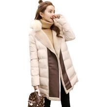 Yingaoxuefei Warm Thick Cotton Clothing 2018 New Winter Coat Collar Feather Cotton Jacket Casual Women's Cotton Clothes
