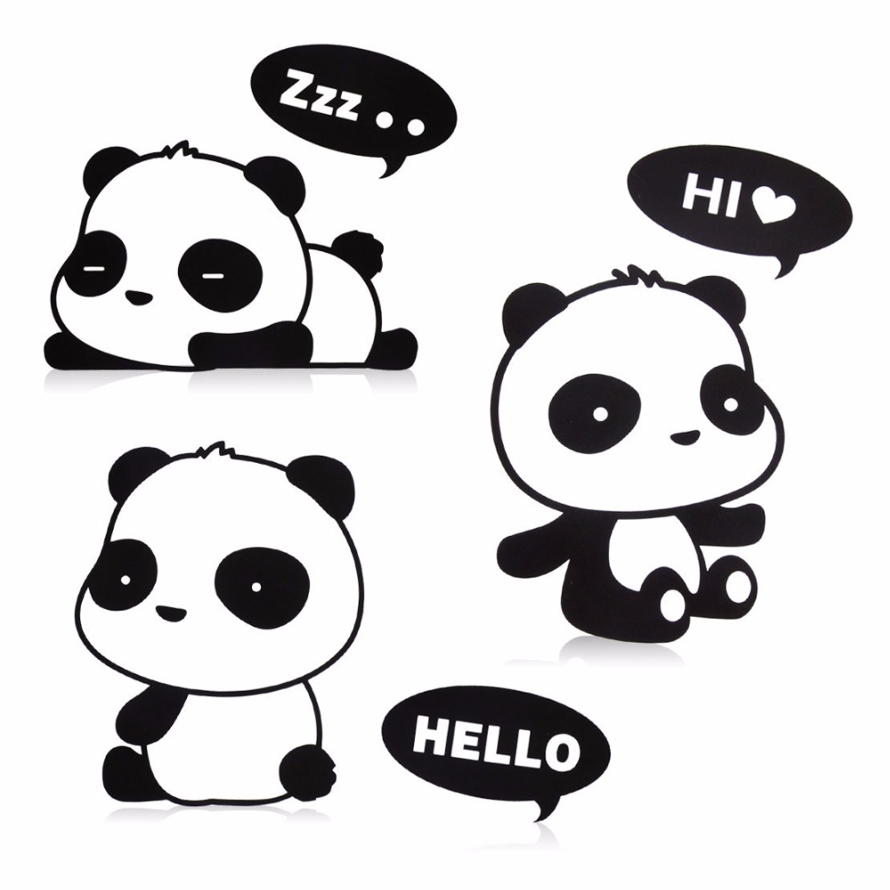 medium resolution of funny panda turn off switch stickers wall stickers hello sleeping panda home decor bedroom parlor decor or kid gift in wall stickers from home garden on