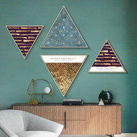 Geometric Triangles Abstract Canvas poster wall pictures for living room Wall Art Painting Decorative Picture cuadros decoracion