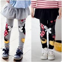 лучшая цена Girl Leggings Skirt-pants Cake Skirt  Autumn Winter Leggings Children's Girls Skirt Pant Baby Girls Clothes For 2-9 Kids F0004