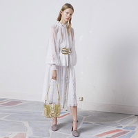 Runway High Quality 2018 Spring Summer New Women S Party Fashion Fairy Vintage Elegant Chiffon Long