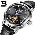 BINGER повседневные модные автоматические механические часы мужские часы Лидирующий бренд Роскошные водонепроницаемые часы Tourbillon Relogio Masculino