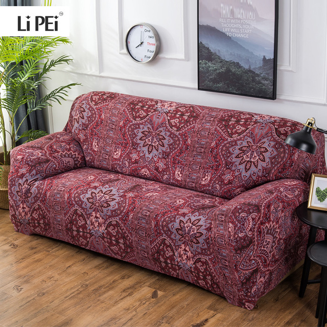 Bohemian Style Elastic Stretch Universal Sofa Covers Sectional Throw Couch Corner Cover Cases For Furniture Armchairs