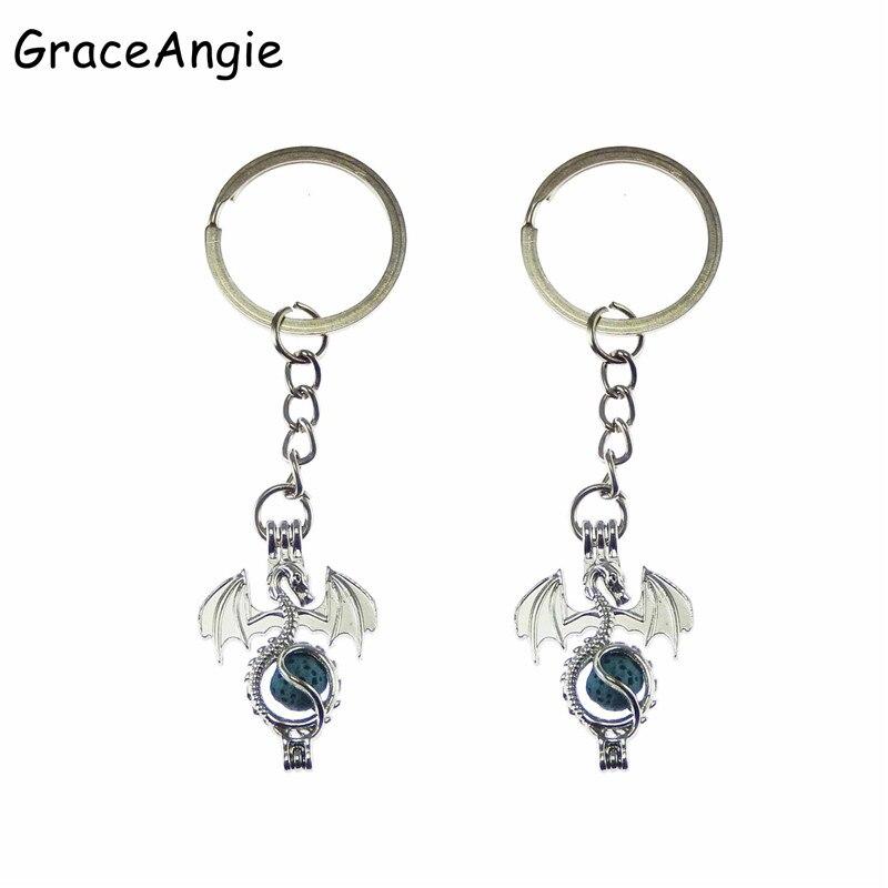 Handmade Alloy Dragon Key Chains Key Ring Locket  Charms Dragon Keychain Bag Charms Bag Key Holder For Gift Chaveiro Key chain