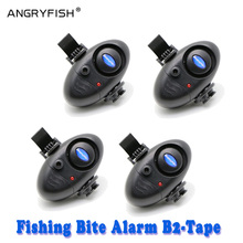 Black Outdoor Tools Electronic Fish Bite Alarm Finder Sound Alert Running LED Clip On Fishing Rod Fishing Tackle