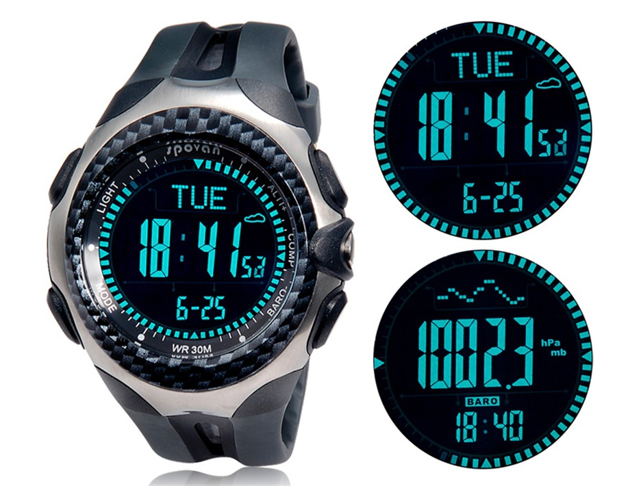 aliexpress com buy top sports spovan mingo functional outdoor aliexpress com buy top sports spovan mingo functional outdoor digital compass barometer pedometer temperature height weather forecast men watch from