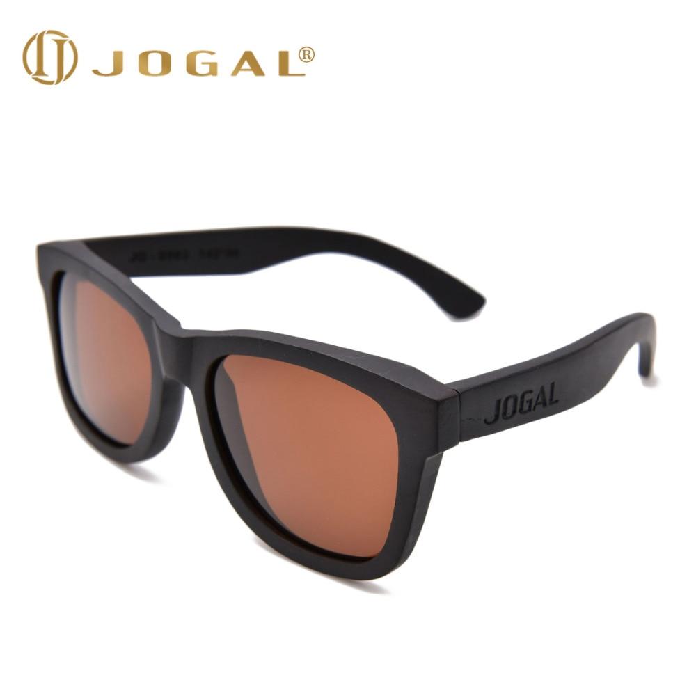 JOGAL New 100% Real Ebony Wood Sunglasses Polarized Handmade Wooden Mens Sunglass Sun glasses Men Gafas Oculos De Sol Madera 002