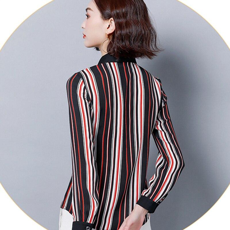 Collar Multiple Casual 2019 Moda Plus Tops Las De Rayas Dama Mujer Tamaño Y  Primavera Señoras Blusas Nueva Oficina ... c92f420c5a4a