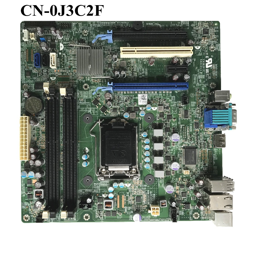 Excellent CN-0J3C2F For DELL Optiplex 790 MT Desktop Motherboard LGA1155 DDR3 Q65 0J3C2F J3C2F 100% working