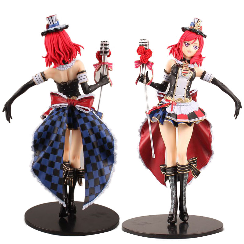 Anime Love Live! School Idol Festival Maki Nishikino Sexy Maid Ver. PVC Action Figure Model Kids Toys Doll 29cm attractive medium straight layered jacinth anime love live nishikino maki uniform style cosplay wig