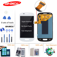 цена Sinbeda Super Amoled LCD For Samsung Galaxy S3 Mini i8190 i8190N i8195 LCD Display and Touch Screen digitizer Assembly Tela