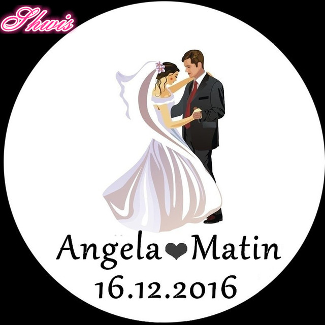 Aliexpresscom Buy 100pcs Personalized Wedding Stickers Craft