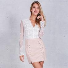 Winter Cross High Waist Skirt 2017 Womens Fashion Autumn Lace Up Leather Suede Pencil Skirt Zipper Split Bodycon Short Skirts