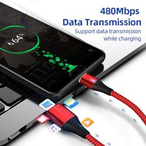 Image 3 - SUNPHG 携帯電話 3A 磁気ケーブル充電器 2m マイクロ USB 高速充電タイプ C データケーブル iphone 雷 xs xr サムスン S9