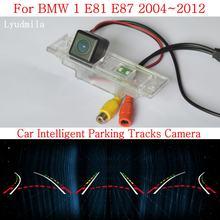 Lyudmila-cámara inteligente con raíles para coche, cámara de visión trasera inversa para aparcamiento, para BMW 1, E81, E87, 2004 ~ 2012, HD, CCD