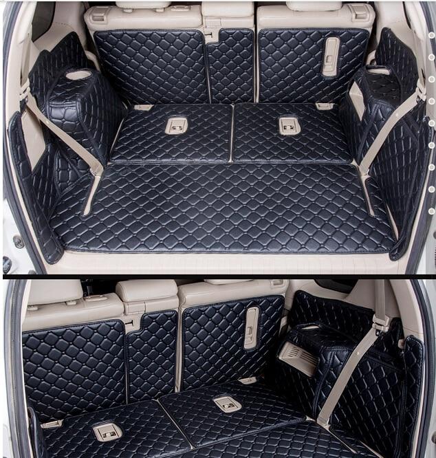 Высококачественные специальные коврики для багажника автомобиля для Toyota Land Cruiser Prado 150, 7-местные 2016 коврики для багажника, коврик для груза д...