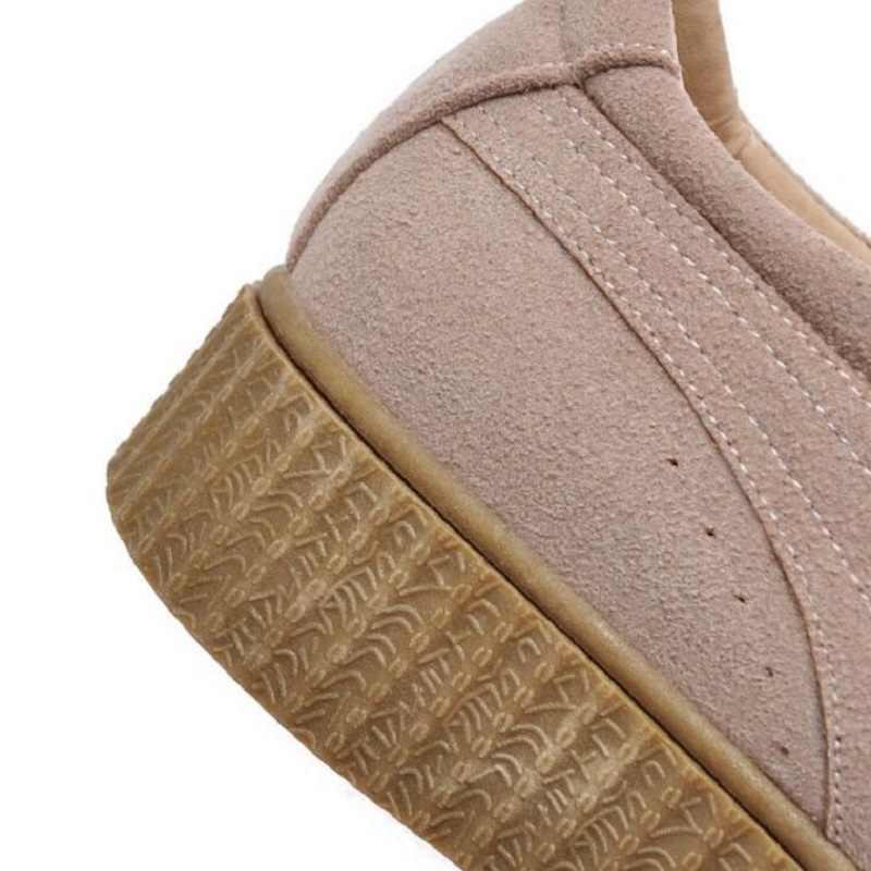 2019 Bahar İngiliz Tarzı Yeni Kalın Tabanlı Rahat düz ayakkabı Kadınlar Için Retro Dantel Platformu Loafer'lar Öğrenciler Yuvarlak Ayakkabı