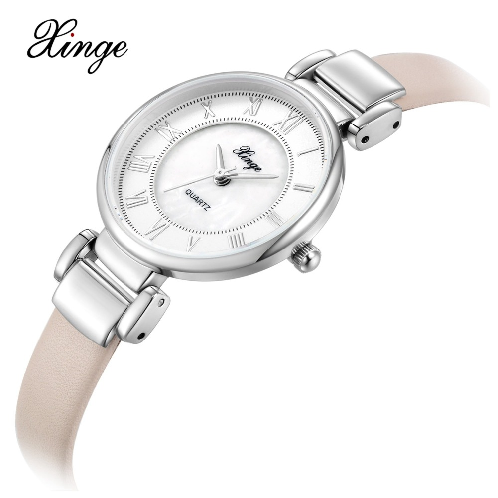 Xinge Brand Ladies Watch Minimalist Style Women Quartz Wristwatch Leather Bands Women Fashion Sport Clock Casual Business Hours xinge brand fashion women quartz wrsit watches clock leather strap business watch ladies silver luxury female sport womens watch