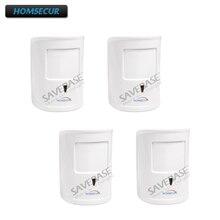 HOMSECUR Wireless 433MHz 4Pcs A12 Pet-Immune/Friendly PIR Sensor For Our Alarm System