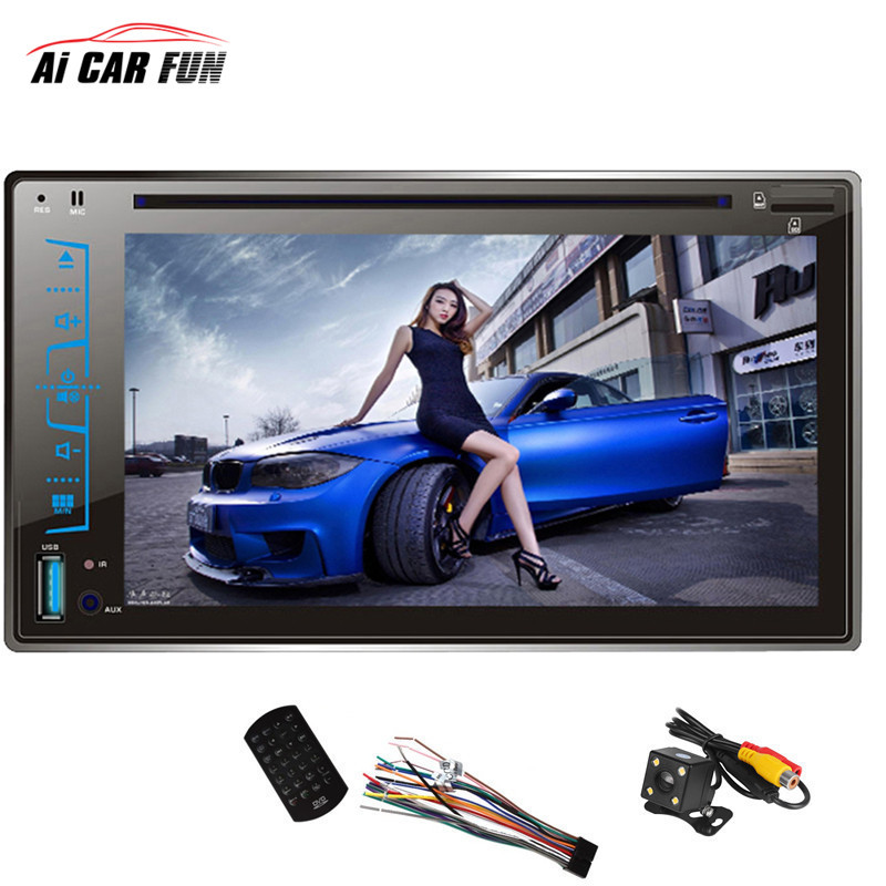 FY6205C 2 Din Car DVD Player 6.2 Capacitive Touch screen Handsfree Bluetooth Car Stereo CD/MP3/FM/AM/USB/SD MP4 MP5 Player supra phs 2004