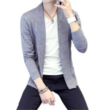 TG6418 Cheap wholesale 2016 new Young men sweater thin long sleeve coat pure cardigan sweater