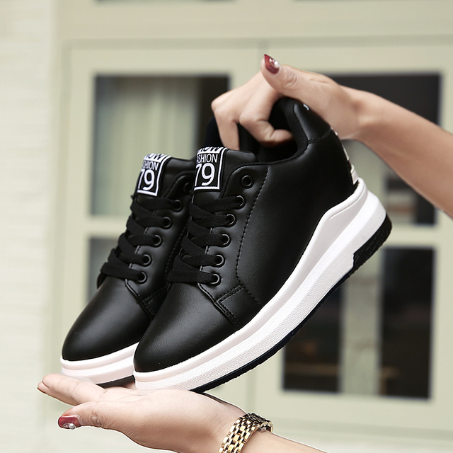 2018 High Quality Women Casual Shoes Breathable Trend Female Sneakers Scarpe Donna Lace Up Non-slip Shoes Women\x27s Sneakers
