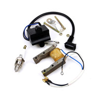 TDPRO ATV Parts Electical Components Ignition Coil CDI + Magneto Stator + Spark Plug Kit 49cc 80cc Motorized Bicycle HHY