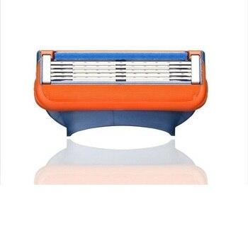 1Holder + N Lâmina de barbear Lâminas de barbear para homens Lâminas de barbear de 5 camadas para cuidados com o rosto Compatível com Gillettee Fusione Razor 1
