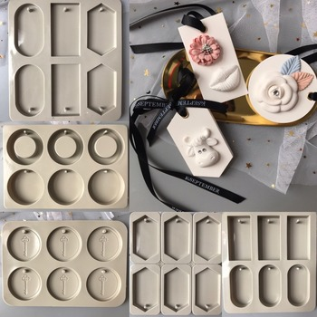 Silicone Mold Six Hole Wax Molds Mould Aroma DIY Gypsum Flower Handmade Ornaments Stone Rubber PRZY 001