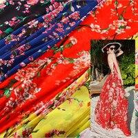 2019 Tissus Au Metre Tissus Free Shipping Chiffon Japanese And Korean Bohemian Women's Dress Material High end Clothing Fabrics