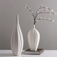 New Arri Chinese Jingdezhen Porcelain Creativity Modern Style White Vases Ceramic Vases for Wedding Home Decoration Gifts 4