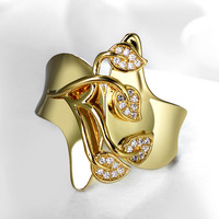 2016 New Engagement Ring For Women AAA Cubic Zirconia Gold Plated Stone Ring Lead Free Fashion