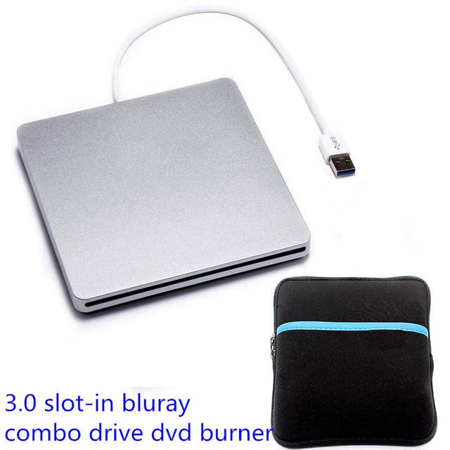 Drive Óptico externo Portátil USB 3.0 Blu-ray Player DVD Super Drive DVD RW Burner Escritor 3D Blue-ray BD-ROM Combo Jogador + Dri
