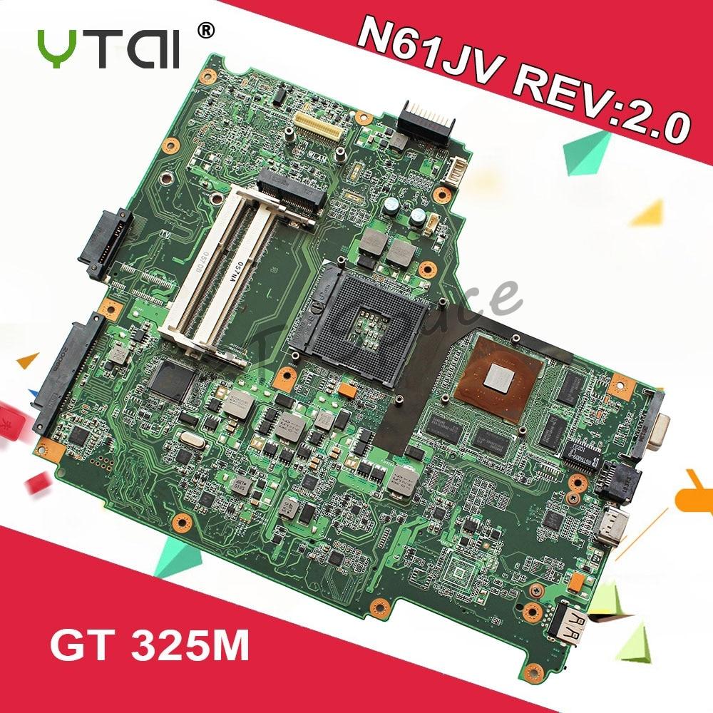 N61JV Motherboard REV 2 0 1GB For ASUS N61J N61JV N61JQ N61JA laptop Motherboard N61JV Mainboard