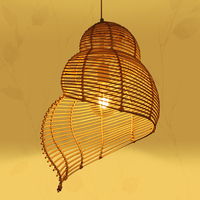 Nordic personality snail chandelier living room tea room rattan lamp cafe decoration lighting ZP4221835
