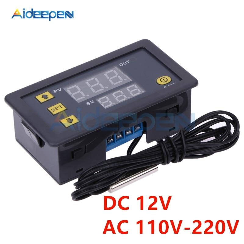 W3230 12V 110V 220V LED Digital Temperature Instruments Controller High Precision Thermostat Thermometer Control Switch Sensor