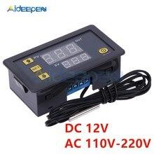 Controlador de temperatura digital w3230 12v 110v 220v, controlador de led para instrumentos de temperatura de alta precisão, termômetro e controle de sensor