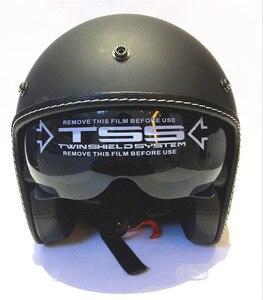 Image 5 - Hot Sale Wanli Brand Casque Moto Capacete Motorcycle Helmet Vintage Helmet High Quality 3/4 Open Face Scooter Helmets Dot