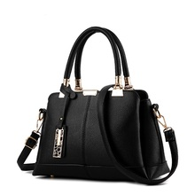 High Quality PU Leather Bag Women Fashion Handbag Large-capacity Single Shoulder Sweet Lady Bags Wallet with Free Shipping B-04