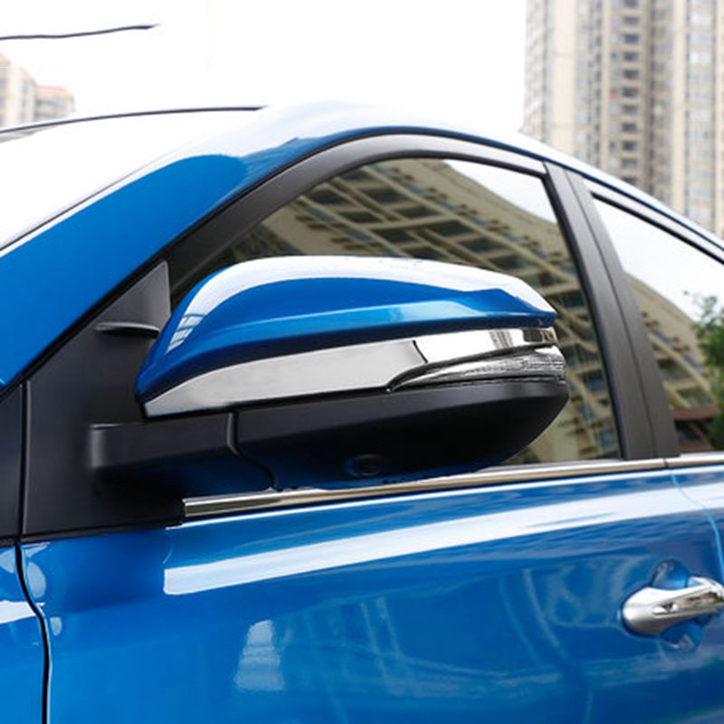 ABS Chrome Rearview Mirror Decoration Cover Trim Rear View Mirrors Strip Decoration 2Pcs For Toyota RAV4 RAV 4 2013 2014 2015