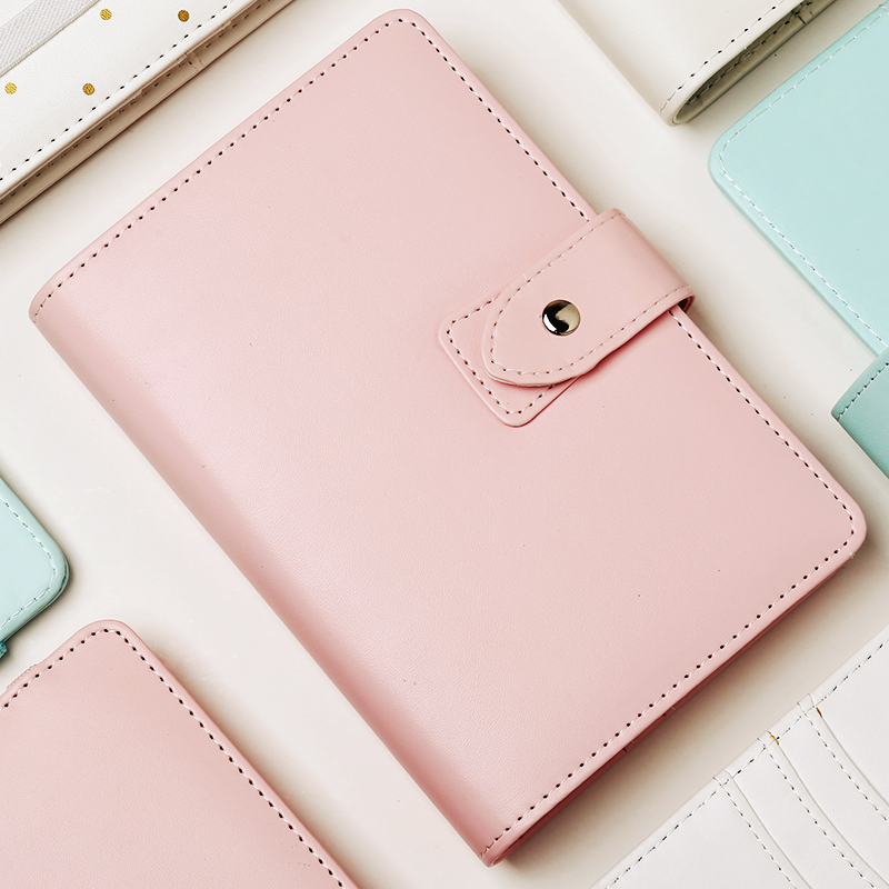 new A5 A6 Macaron Buckle/Straps Dot Notebook Planner Cute Spiral Binder Planner 6 Hole Loose Leaf Notepad Diary Agenda Organizer new hot korean a5 a6 cute macaron leather notebook planner spiral big size binder planner notepad diary agenda organizer planner
