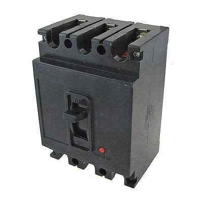 ФОТО AC 380V DC 220V 100A 3P Moulded Case Circuit Breaker Black