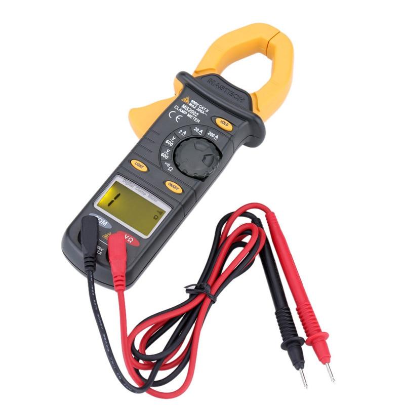 Digital Clamp Meter  Mastech MS2002 Multimeter AC Current DC/AC Voltage Resistance Audible Continuity Measurement Manual Range  цены
