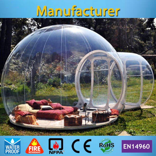 Free shipping commercial inflatable clear bubble tent with free CE/UL blower and carry bag прозрачная палатка bubble tree