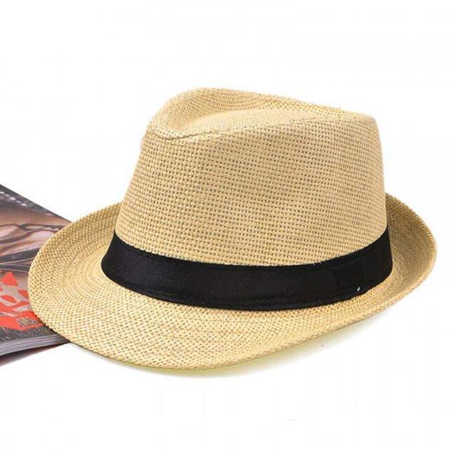 f4df3af44be SUOGRY Women Hat For Men Hat Ladies Summer Beach Cap Sun Hat Female Panama  Straw Male