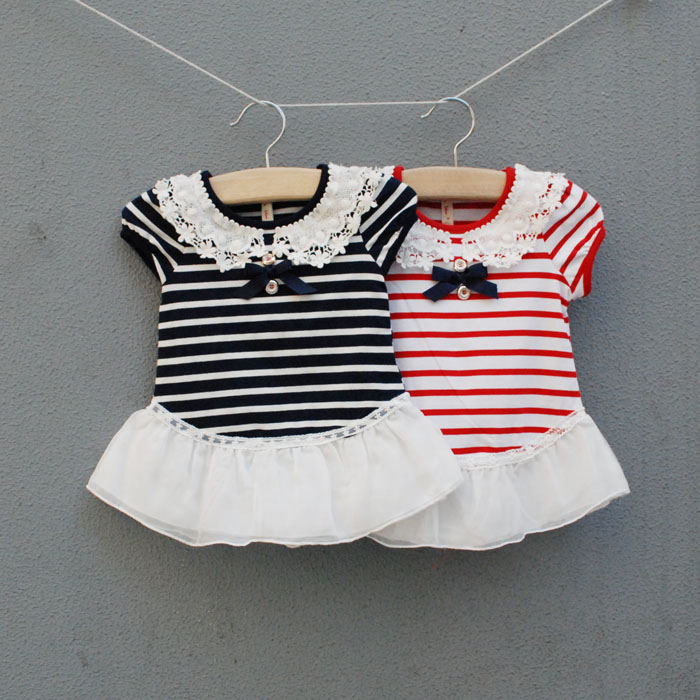 23f3b0c239839 Baby summer 0 - 3 - 6 months old 1 summer dresses clothes clothing striped  baby girl dress free shipping