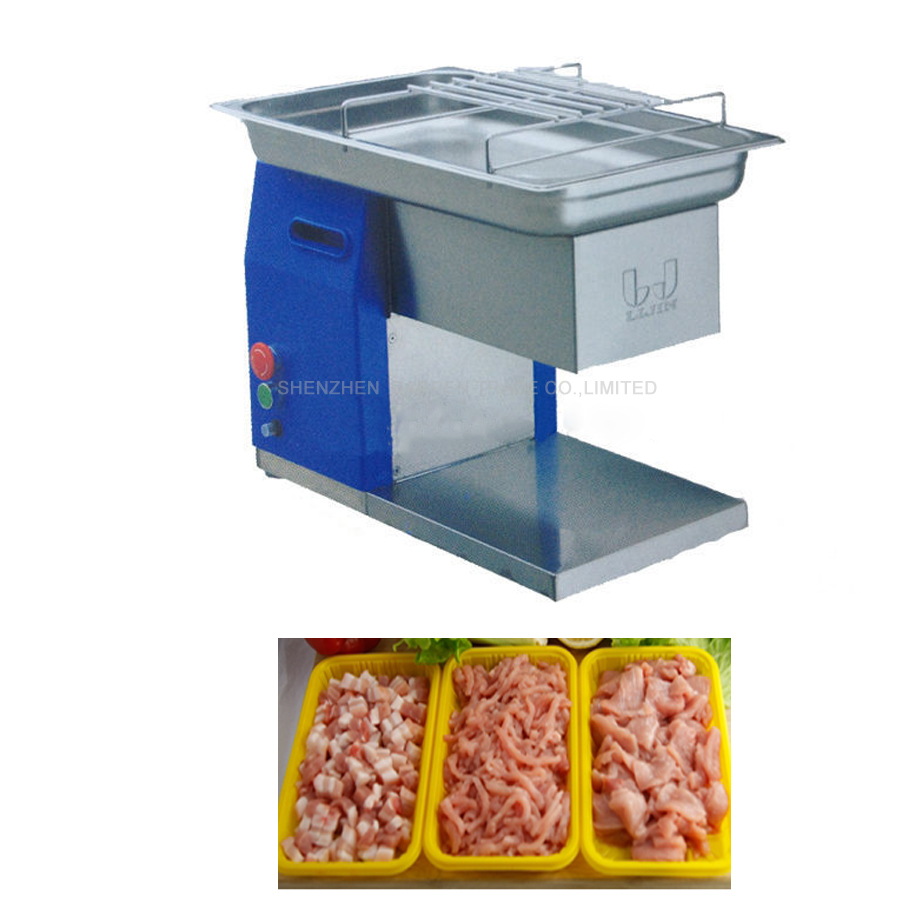 110V/220V 550W Hot Sale In Stock Commercial Use New Design QH Meat Slicer Cutting Machine 250KG Per Hour +steady 1PC