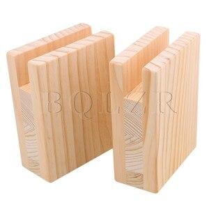 Image 3 - BQLZR 10 × 5 × 13.2 センチメートル木製テーブルデスクベッドライザー家具リフター収納ため 2 センチメートル溝足の 10 センチメートルまでリフトパック 4