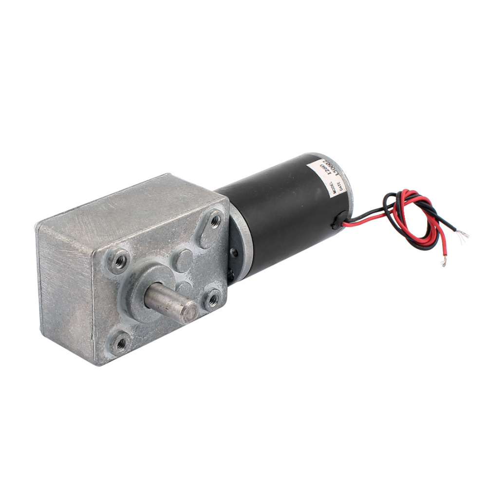 UXCELL DC 12V 60RPM 8mmx15mm Dual D-Shape Shaft Electric Power Turbo Worm Geared Motor цены